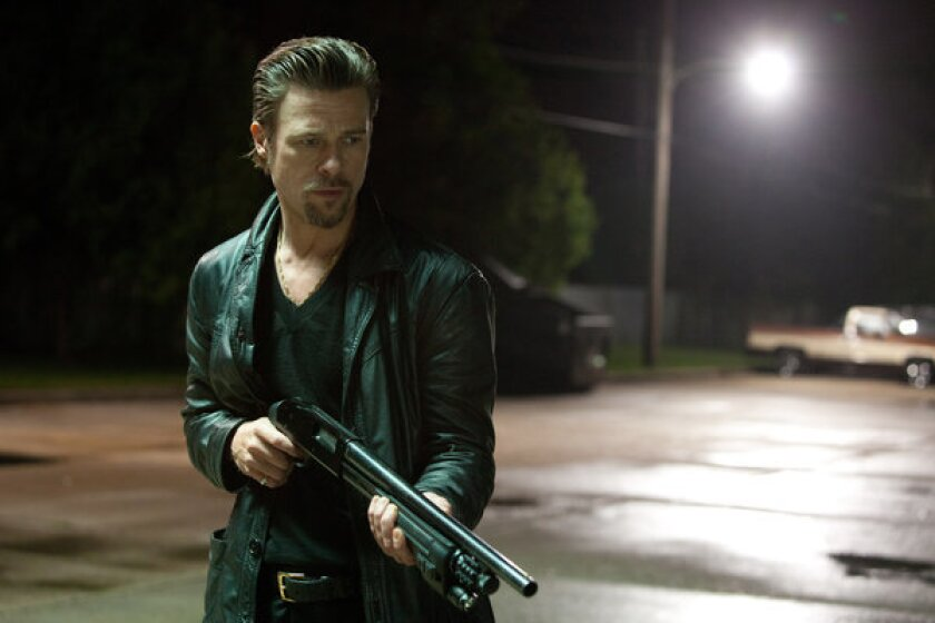 "Brad Pitt stars in ""Killing Them Softly,"" which opens Friday."