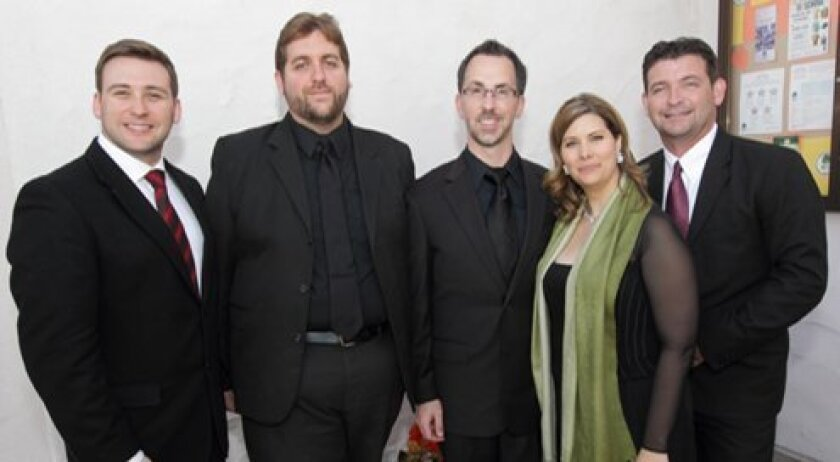 Vocalists Scott Mello, Erick Rarick, Patrick Walders, Angela Young Smucker, Charles Humphries