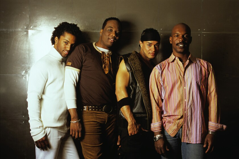 "Darryl Stephens, left, Rodney Chester, Christian Vincent and Doug Spearman from ""Noah's Arc."""