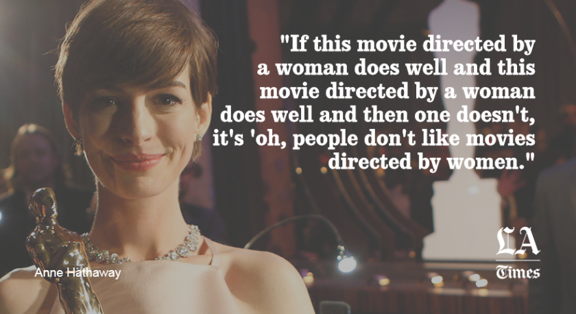Anne Hathaway on female directors