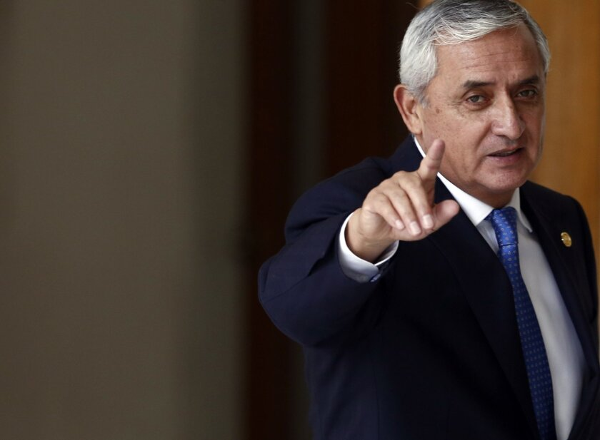 Guatemala's attorney general said that a judge has granted her request for an order to detain President Otto Perez Molina.