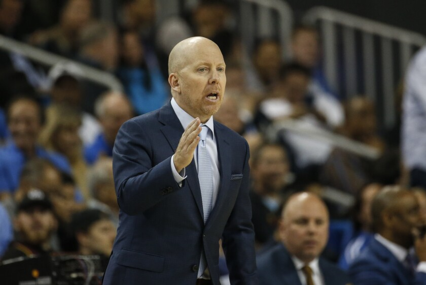 UCLA coach Mick Cronin gestures during a game against Arizona State on Feb. 27 at Pauley Pavilion.