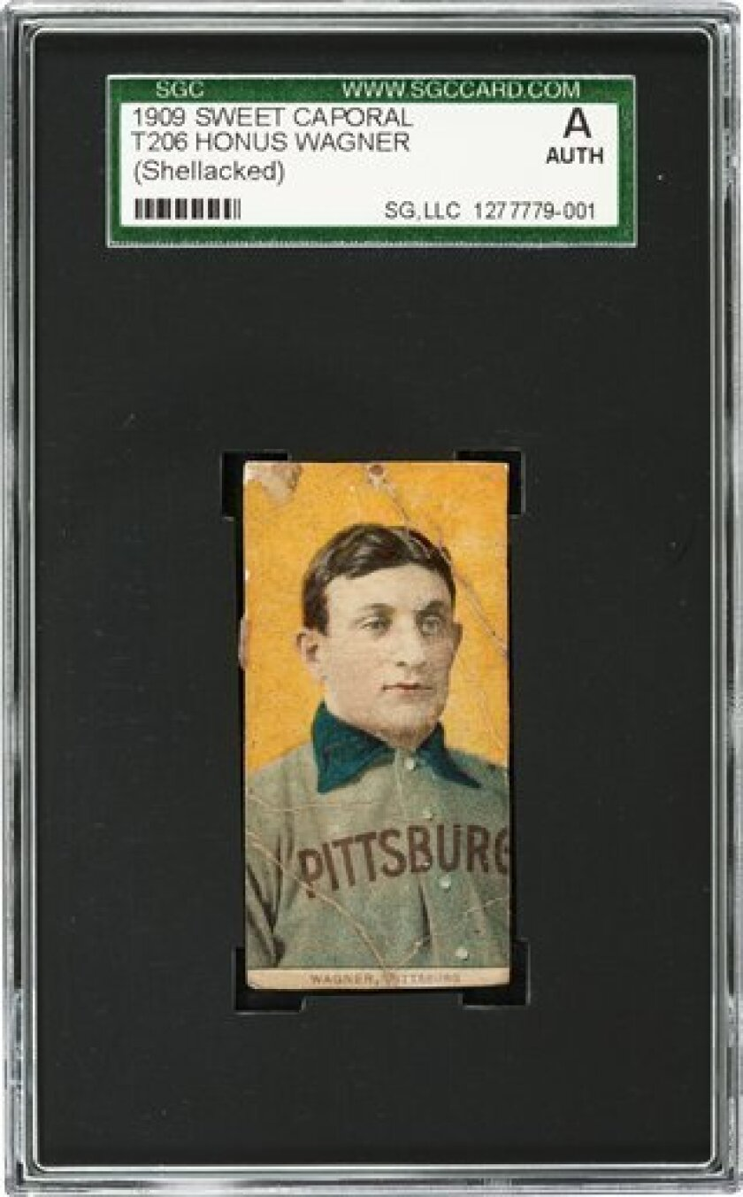 FILE - This undated photo provided by Heritage Auctions shows a rare century-old T206 Honus Wagner baseball card. The Honus Wagner baseball card that was bequeathed to an order of Roman Catholic nuns has sold at auction for $262,000. The Baltimore-based School Sisters of Notre Dame put the card up for sale after inheriting it from the brother of a deceased nun. The sale price exceeded the expectations of auctioneers at Dallas-based Heritage Auction Galleries. The nuns will receive $220,000 from the sale. Sister Virginia Muller, who was entrusted with the card, says the proceeds will go to the order's ministries in more than 30 countries around the world. (AP Photo/Courtesy of Heritage Auctions) NO SALES