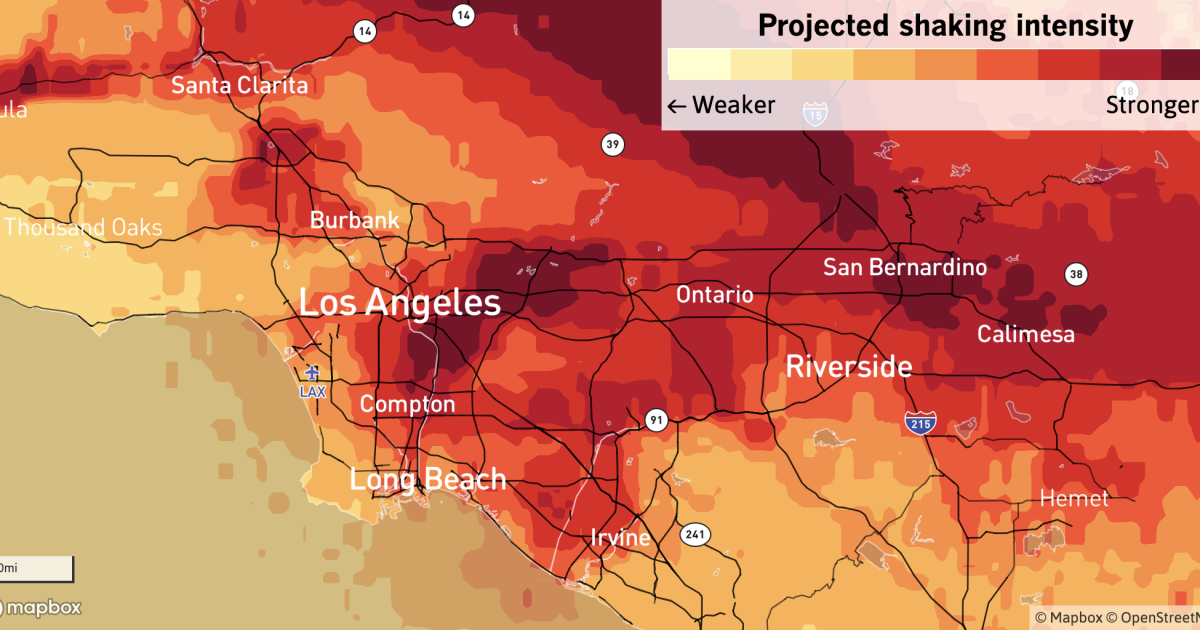 'Tectonic time bomb:' Maps show where massive California earthquakes cause the most shaking and destruction - Los Angeles Times