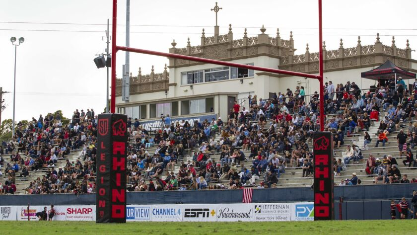 A general view of the home crowd during the second half of the SD Legion vs Utah Warriors game.