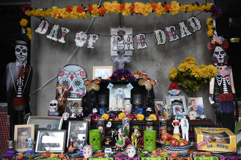 Dia de los Muertos (Day of the Dead) altar at the Sherman Heights Community Center in San Diego.