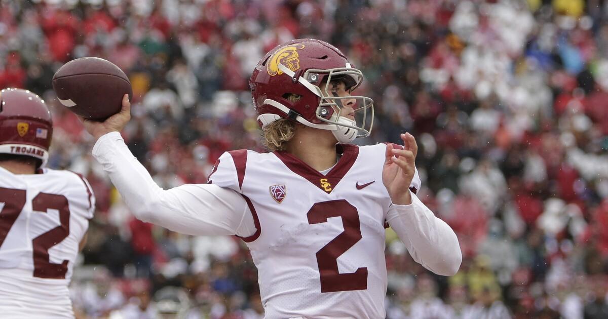 Column: Jaxson Dart's unexpected rise could help USC lure a big-name coach