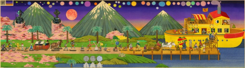 "David Jien's works in ""Exodus"" at Richard Heller Gallery include colored pencil drawings."