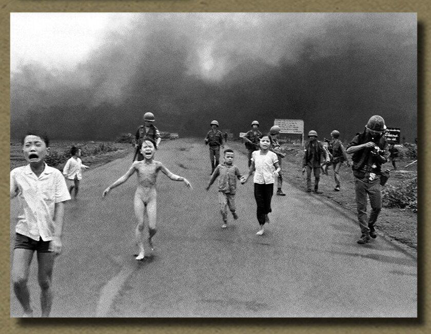 The famous 1972 image of the bombing of Tang Bang, courtesy The Bridges of Rancho Santa Fe; Photo by Nick Ut.