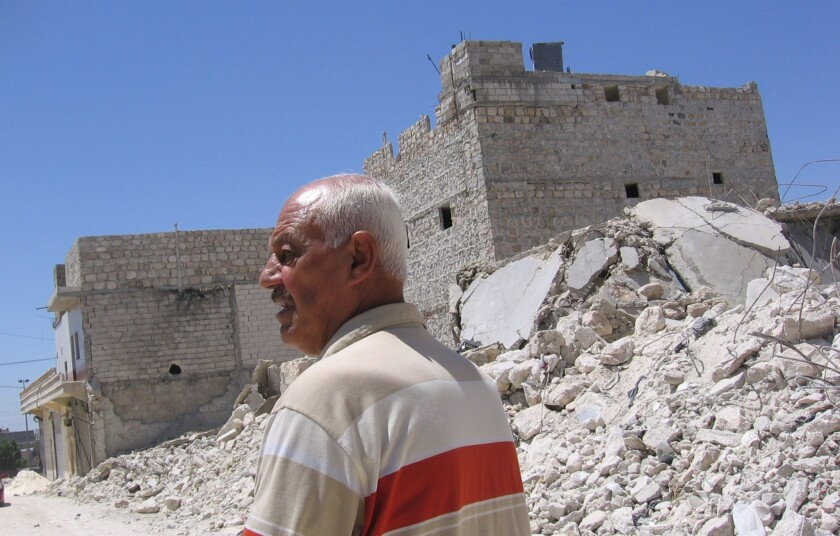 A Scud missile struck near Abdulaziz Haizaan's home in Aleppo, crumbling much of the top floor, blowing out doors and shattering glass. But a week later, the retired factory worker borrowed about $1,150 and began to rebuild.
