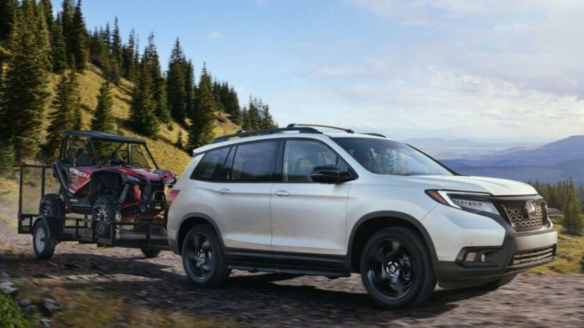 2019 Honda Passport with Accessory Running Boards and Trailer Hitch