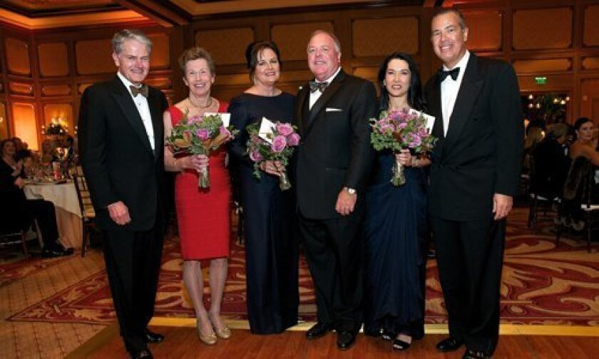 Mercy Ball co-chairs, Chuck Dick, Anne Dick, Gretchen Glazener, Kirk Avery,Cecilia and Pepe Larroque.
