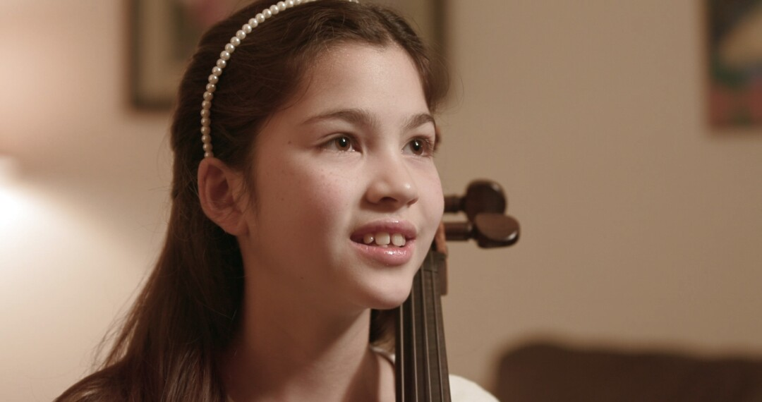 Young cellist Starla Breshears, shown in her Northern California home.