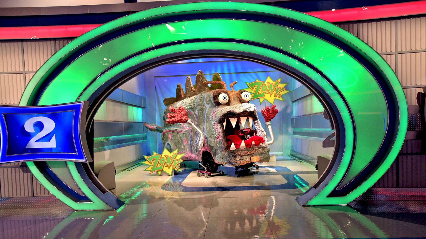 """What's behind Door No. 2? The """"monster van,"""" a """"zonk,"""" or joke, prize created for """"Let's Make a Deal."""""""