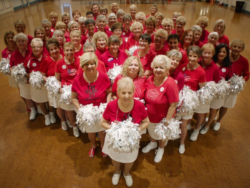 """A senior cheer group in Florida retirement community the Villages as seen in """"Some Kind of Heaven."""""""