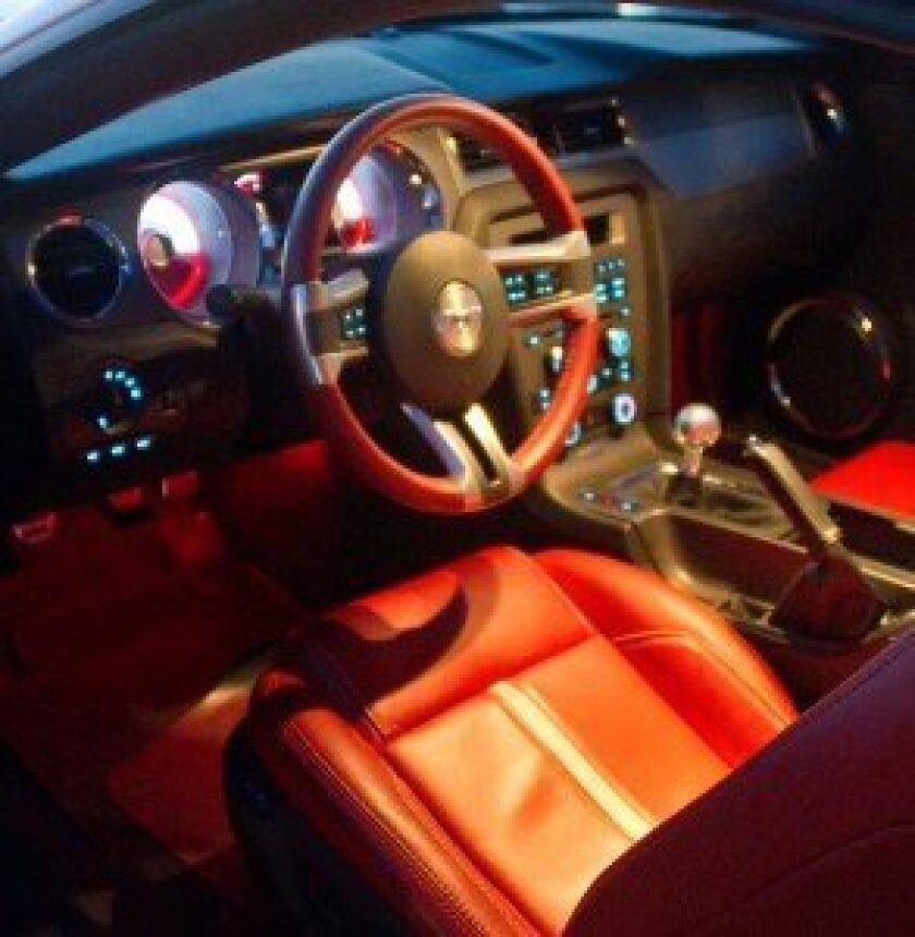 2011 Mustang interior