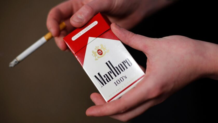 The state tax on cigarettes could go up $2 a pack.