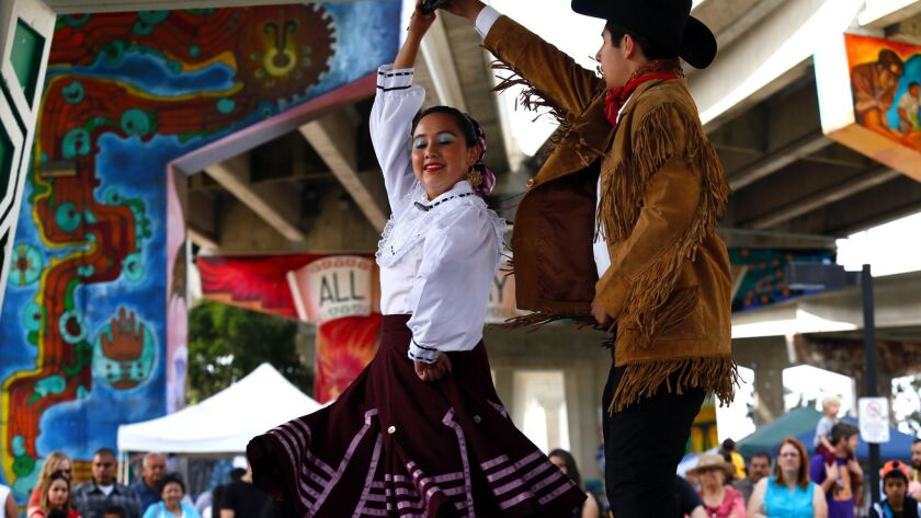 Dancers perform at Chicano park