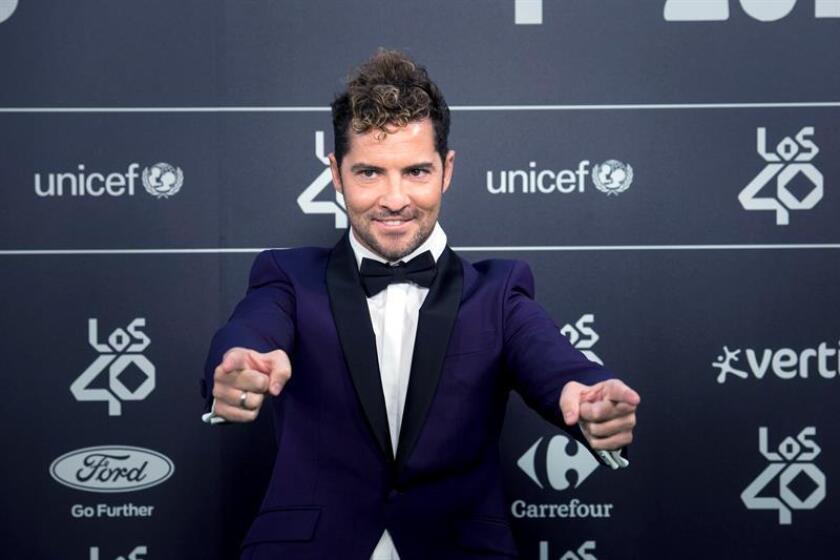 El cantante David Bisbal a su llegada a la gala anual de Los40 Music Awards, premios musicales de España y Latinoamérica. EFE/Archivo