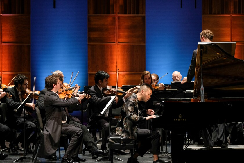 Pianist Conrad Tao performs with the Mainly Mozart Festival Orchestra.