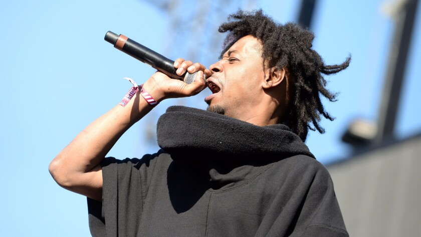 Rapper Danny Brown performs at Exposition Park  in February.