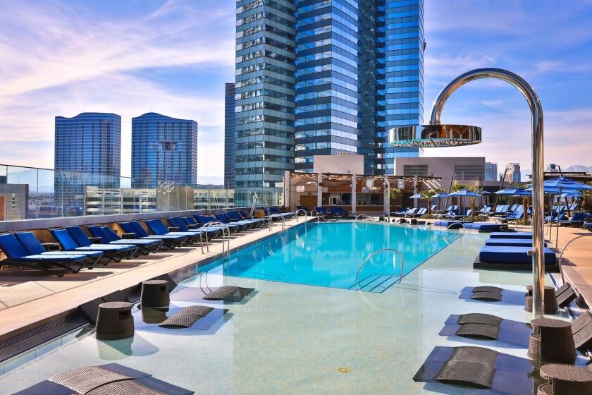The more intimate Bamboo Pool at the Cosmopolitan of Las Vegas.