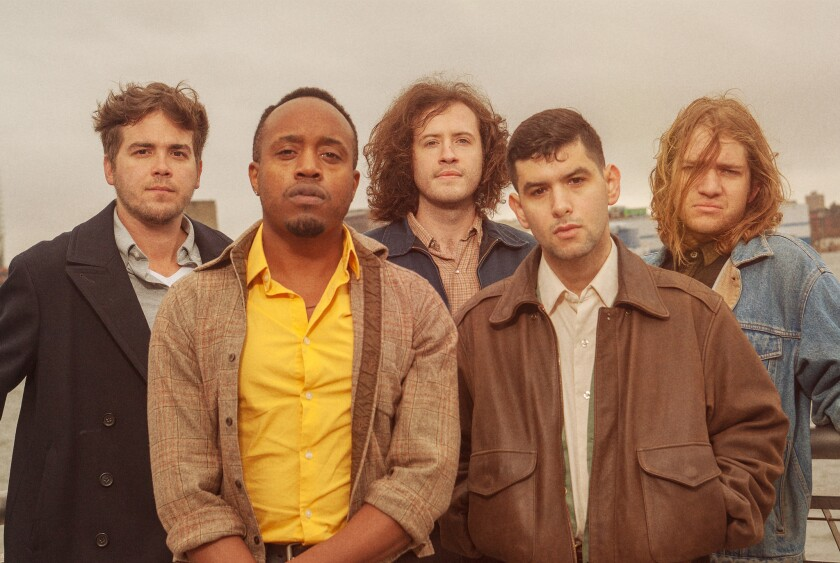 Durand Jones (pictured in yellow shirt) and The Indicatons.