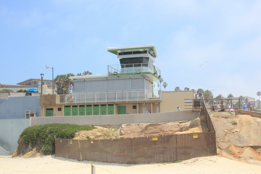Towering over Casa Beach (aka the Children's Pool), the third of three newly-constructed lifeguard stations in La Jolla (The Cove, La Jolla Shores and Casa Beach) will ensure safety for workers and visitors alike, and will be in compliance with the Americans with Disabilities Act.