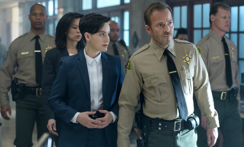 "Bex Taylor-Klaus and Stephen Dorff in ""Deputy"" on Fox."