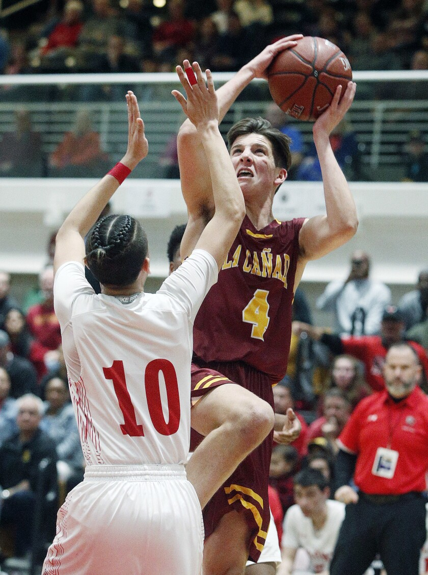 La Cañada High boys' basketball senior Kyle Brown averaged 23 points, six rebounds and three assists per contest to earn Rio Hondo League Most Valuable Player accolades