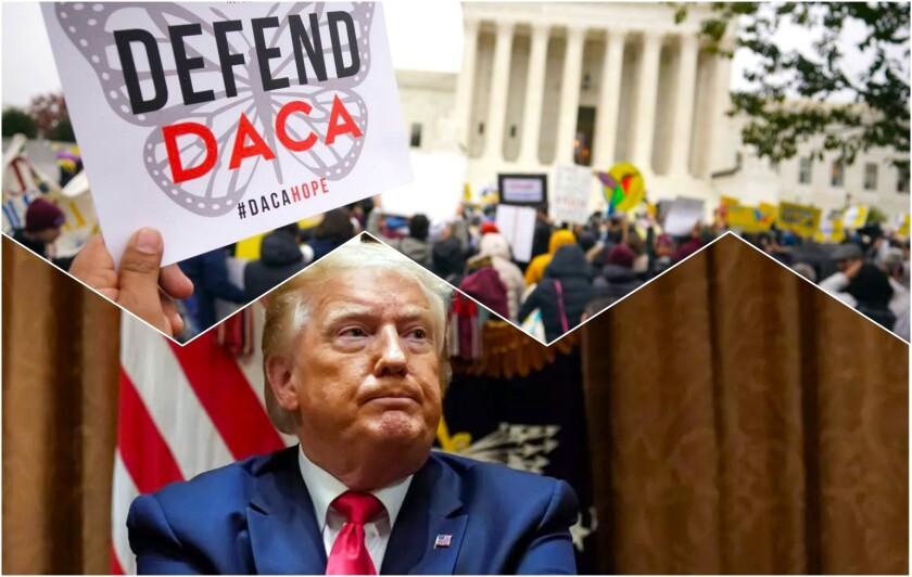 Piden al presidente Donald Tump que desista de intentar derogar el programa migratorio DACA.