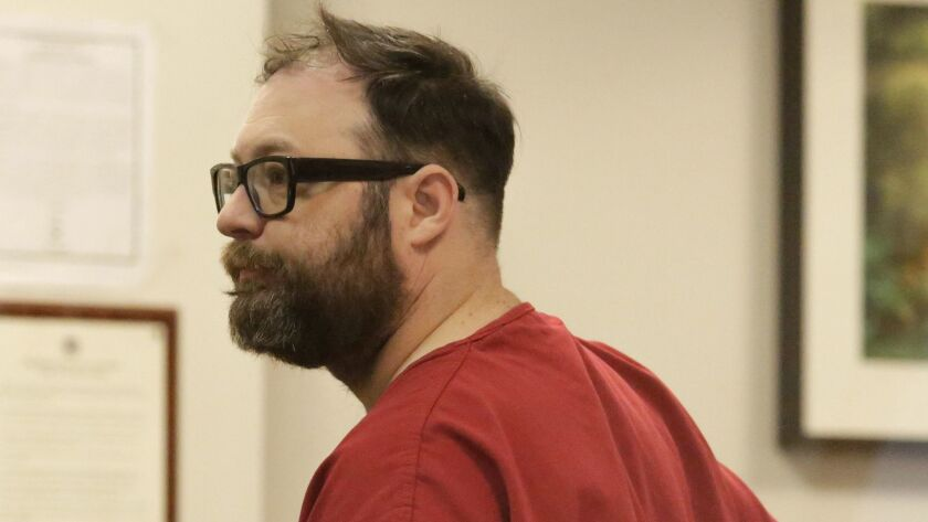 Matt Hickey, a former tech journalist accused by multiple women of rape, at his arraignment in King County Superior Court in Seattle last November.