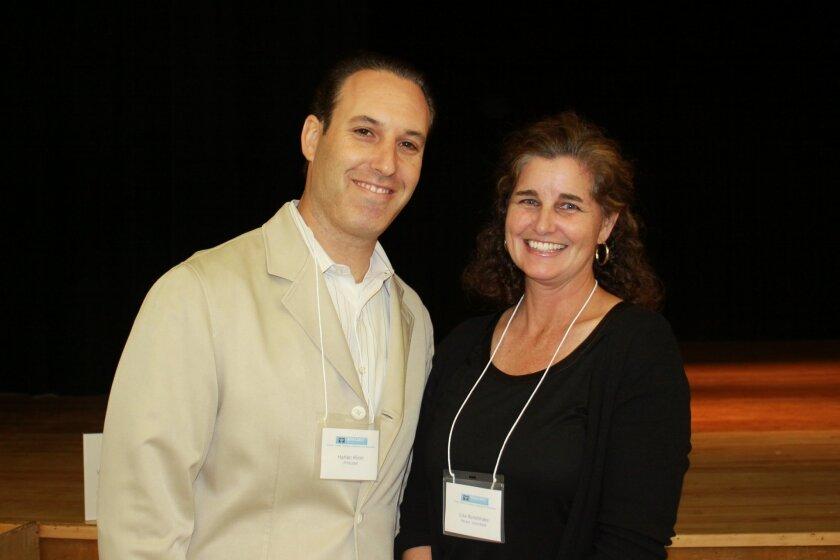 Muirlands Middle School Prinicpal Harlan Klein and parent volunteer Lisa Bonebrake