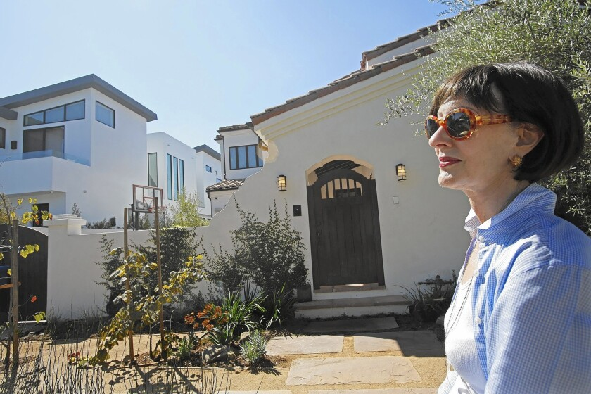 """""""It's not about the size of the structure, it's about the size of the structure in relationship to its surroundings,"""" said Shelley Wagers, a homeowner in Beverly Grove, where activists worked for years to get a neighborhood ordinance that knocks McMansions down to size."""