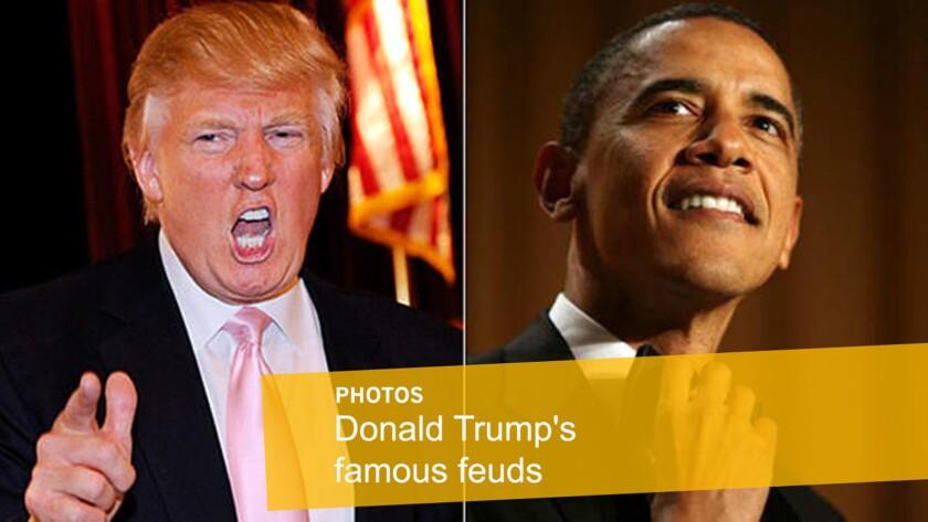 Donald Trump versus President Obama