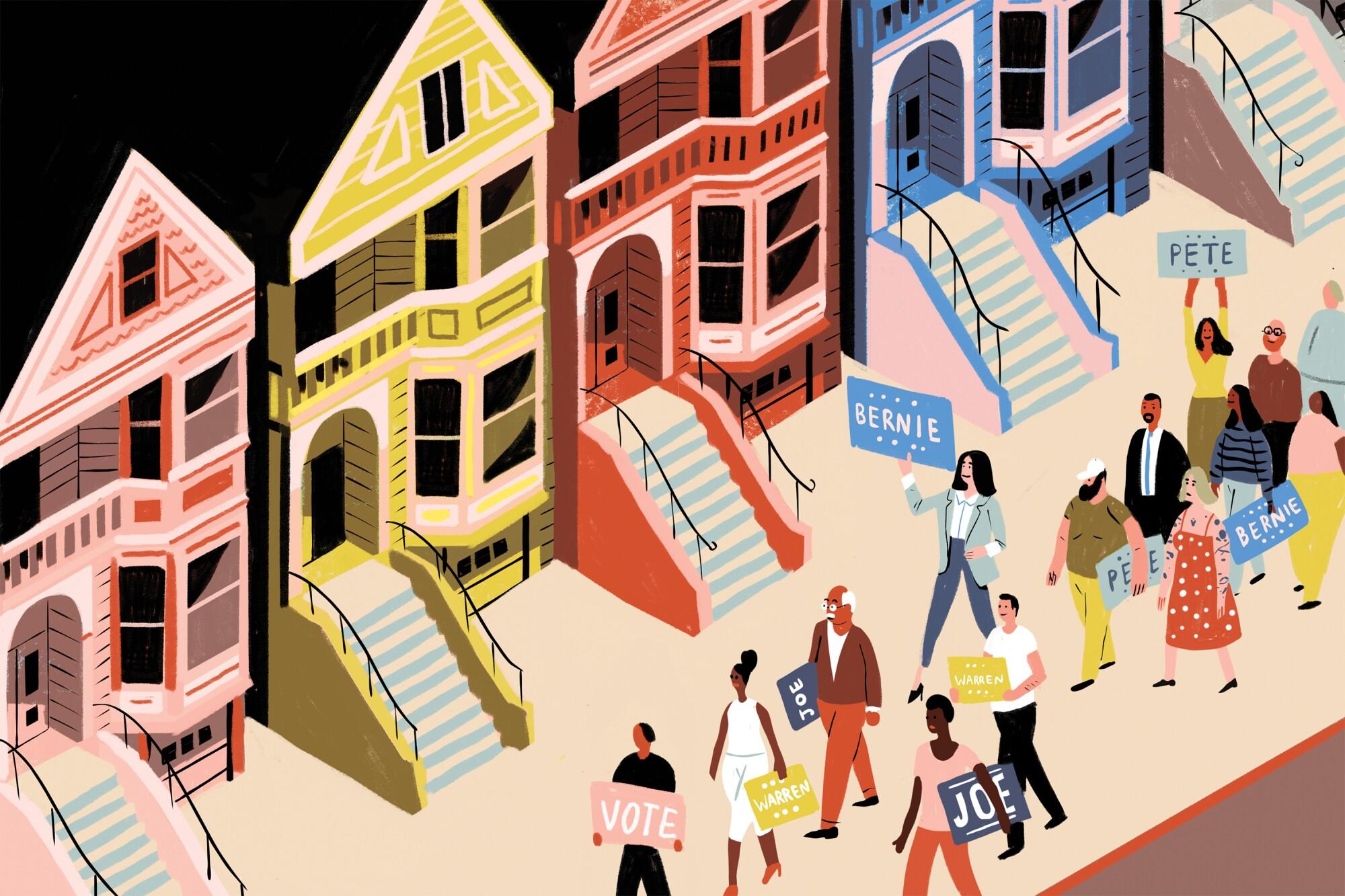 Illustration of San Francisco Democrats