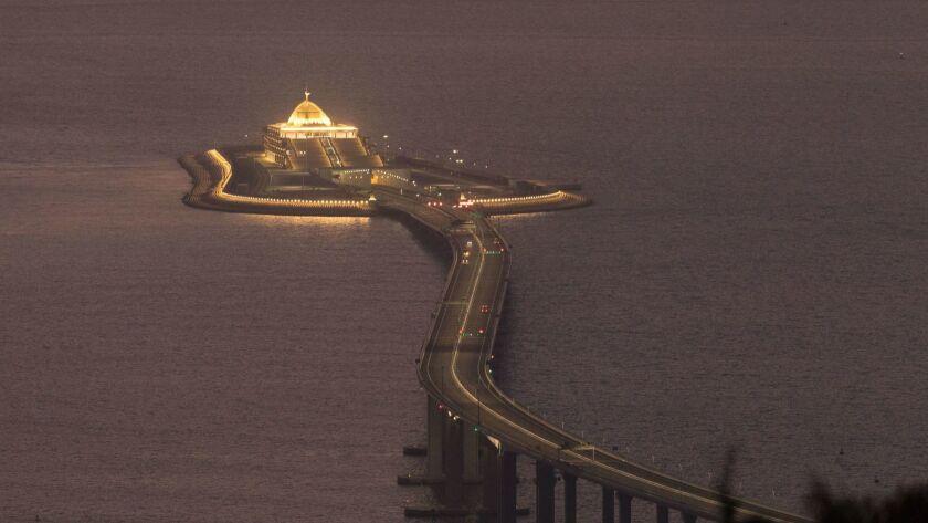 Hong Kong Zhuhai Macau Bridge, China - 29 Oct 2018