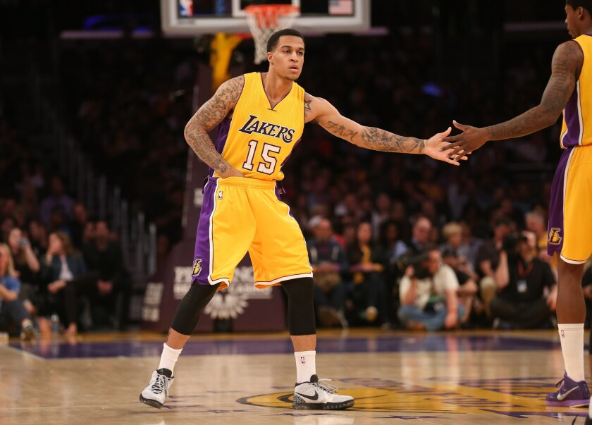Guard Jabari Brown's 10-day contract with the Lakers has expired.