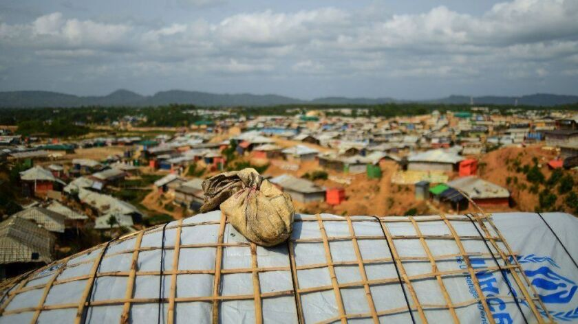 BANGLADESH-ROHINGYA-MYANMAR-REFUGEE-WEATHER-MONSOON