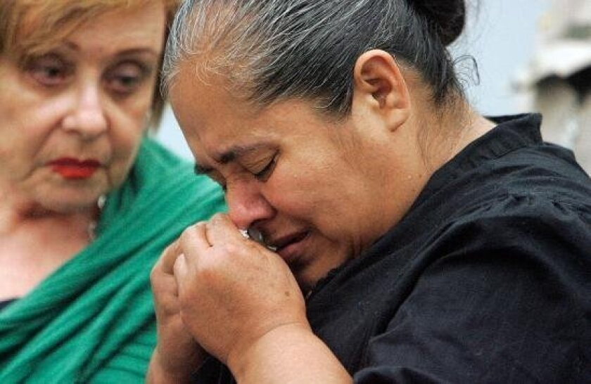 Teresa Cuevas, mother of accident victim Marlene Resendiz, weeps as she speaks in Vista Superior Court on Monday.