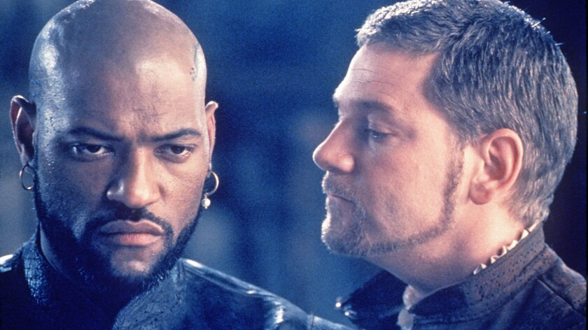 """Laurence Fishburne and Kenneth Branagh in Shakespeare's """"Othello."""""""