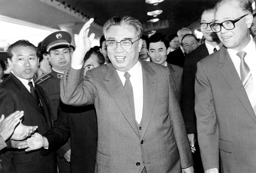 North Korean President Kim Il Sung in May 1987