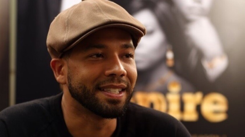 Jussie Smollett during an interview at the Harold Washington Cultural Center in Chicago in 2015.