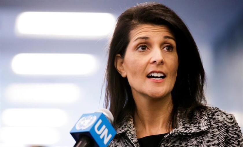 La nueva embajadora ante la ONU, Nikki Haley, anunció hoy el comienzo de otra era en la relación de EEUU con la organización y lanzó una advertencia a los socios que no le den su apoyo. EFE