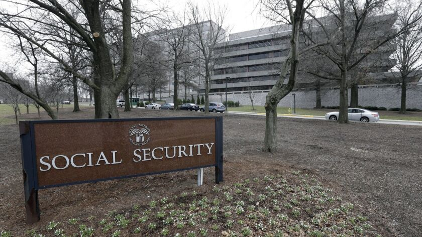 FILE - This Friday, Jan. 11, 2013 file photo, shows the Social Security Administration's main campus