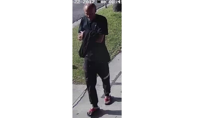 Police are looking for this man who they say attacked a rabbi in the Fairfax District.