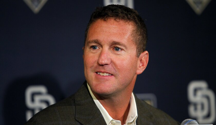 Josh Byrnes was fired as the Padres' general manager on Sunday.