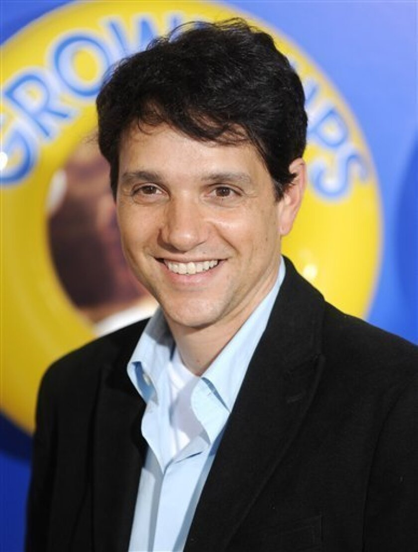 """FILE - In this June 23, 2010 file photo, actor Ralph Macchio attends the premiere of 'Grown Ups' at the Ziegfeld Theatre in New York. Macchio was the night's top scorer on the 12th season premiere of """"Dancing with the Stars,"""" Monday, March 21, 2011, with 24 points out of 30. (AP Photo/Evan Agostini, File)"""