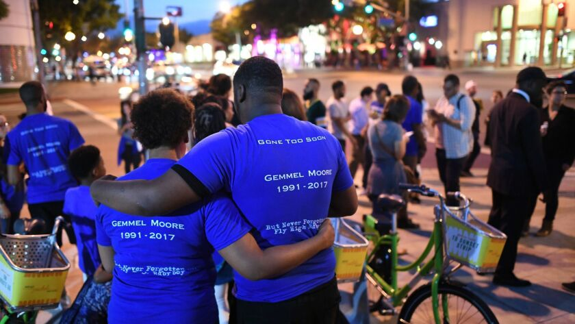 WEST HOLLYWOOD, CALIFORNIA AUGUST 18, 2017-Friends, family and supporters gather for a candelight vi