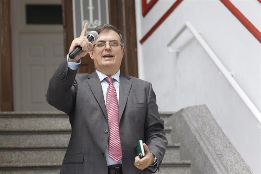 """El futuro canciller de México, Marcelo Ebrard, dijo hoy que el acuerdo bilateral entre el país latinoamericano y Estados Unidos sobre el Tratado de Libre Comercio de América del Norte (TLCAN) """"reduce la incertidumbre"""" económica. EFE/Archivo"""